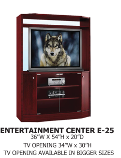 entertainment center E-25