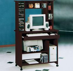Aspen Fall Espresso Computer Desk with Hutch