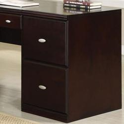 Cape Espresso File Cabinet with Two Drawers