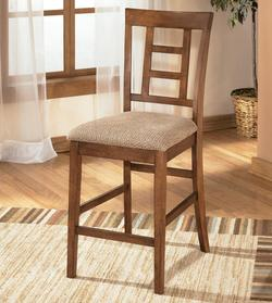 Cross Island Upholstered 24' Seat Height Bar Stool