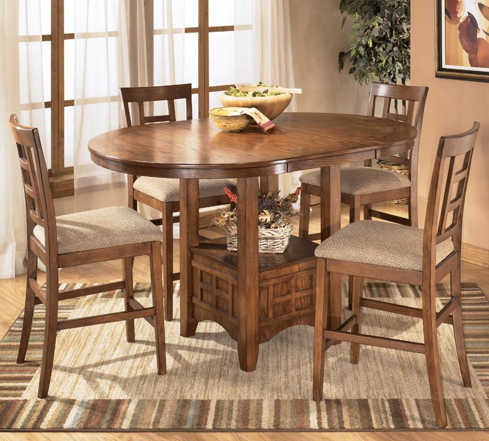 Ashley Furniture Cross Island 5 Piece Counter Height Ext Table Dining Set