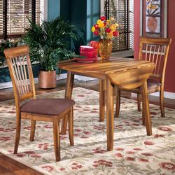 Berringer 3-Piece Drop Leaf Table & 2 Upholstered Side Chairs