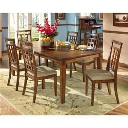 Cross Island Rectangular Extension Table and 6 Side Chair Set