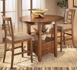 Cross Island 3-Piece Counter Height Ext Table Dining Set