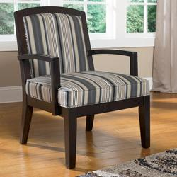 Yvette - Steel Showood Accent Chair w/ Wood Frame