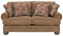 Richland - Amber Loveseat with Rolled Arms and Bun Feet