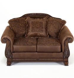 Bradington - Truffle Upholstered Loveseat