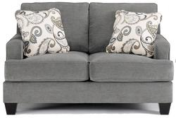 Yvette - Steel Love Seat w/ Loose Seat Cushions