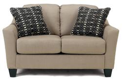 Kyle - Clay Love Seat w/ 2 Toss Pillows