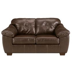San Lucas - Harness Faux Leather Stationary Upholstered Loveseat