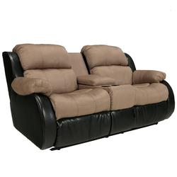 Presley - Cocoa Casual Style Double Reclining Loveseat with Storage Compartment