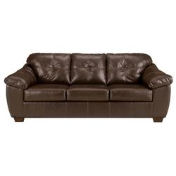 San Lucas - Harness Faux Leather Stationary Sofa with Padded Arms