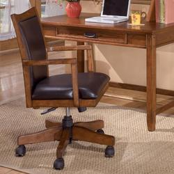 Cross Island Swivel Desk Chair with Adjustable Height