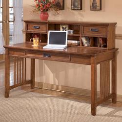 Cross Island Large Leg Desk and Low Hutch