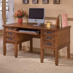 Cross Island Mission Office Leg Desk with Storage