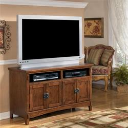 Cross Island 50 Inch Oak TV Stand with Mission Style Hardware