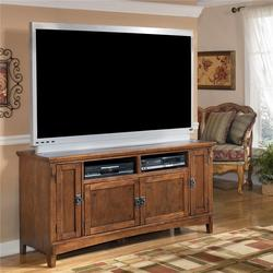 Cross Island 60 Inch Oak TV Stand with Mission Style Hardware