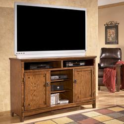 Cross Island Oversized TV Stand with Mission Style Hardware