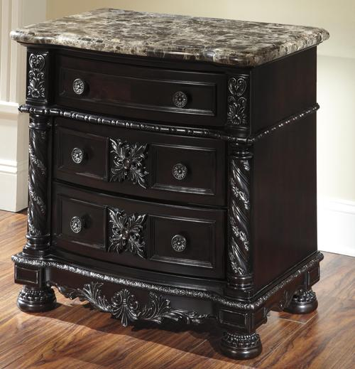 Ashley Furniture Night Stand with Marble 500 x 519