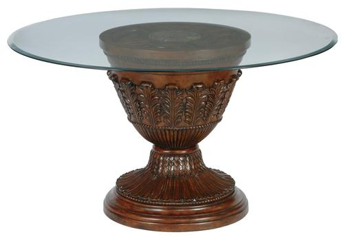 ledelle 54 39 glass top round dining room table