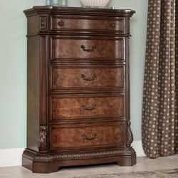 Ledelle Traditional Chest with 5 Drawers