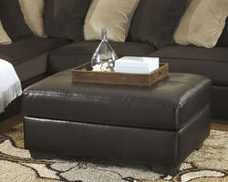 Gemini Chocolate Oversized Accent Ottoman