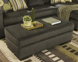 Freestyle Pewter Accent Ottoman