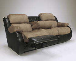 Presley Cocoa REC Sofa w/Drop Down Table