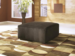 Vista Chocolate Oversized Accent Ottoman