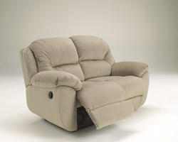 Maytime Putty Reclining Power Loveseat