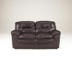 Demetrick Burgundy Loveseat