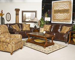 Graydon Park Dark Saddle Loveseat
