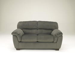 Coral Pike Pewter Loveseat