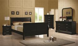 Louis Philippe Transitional Bedroom Group