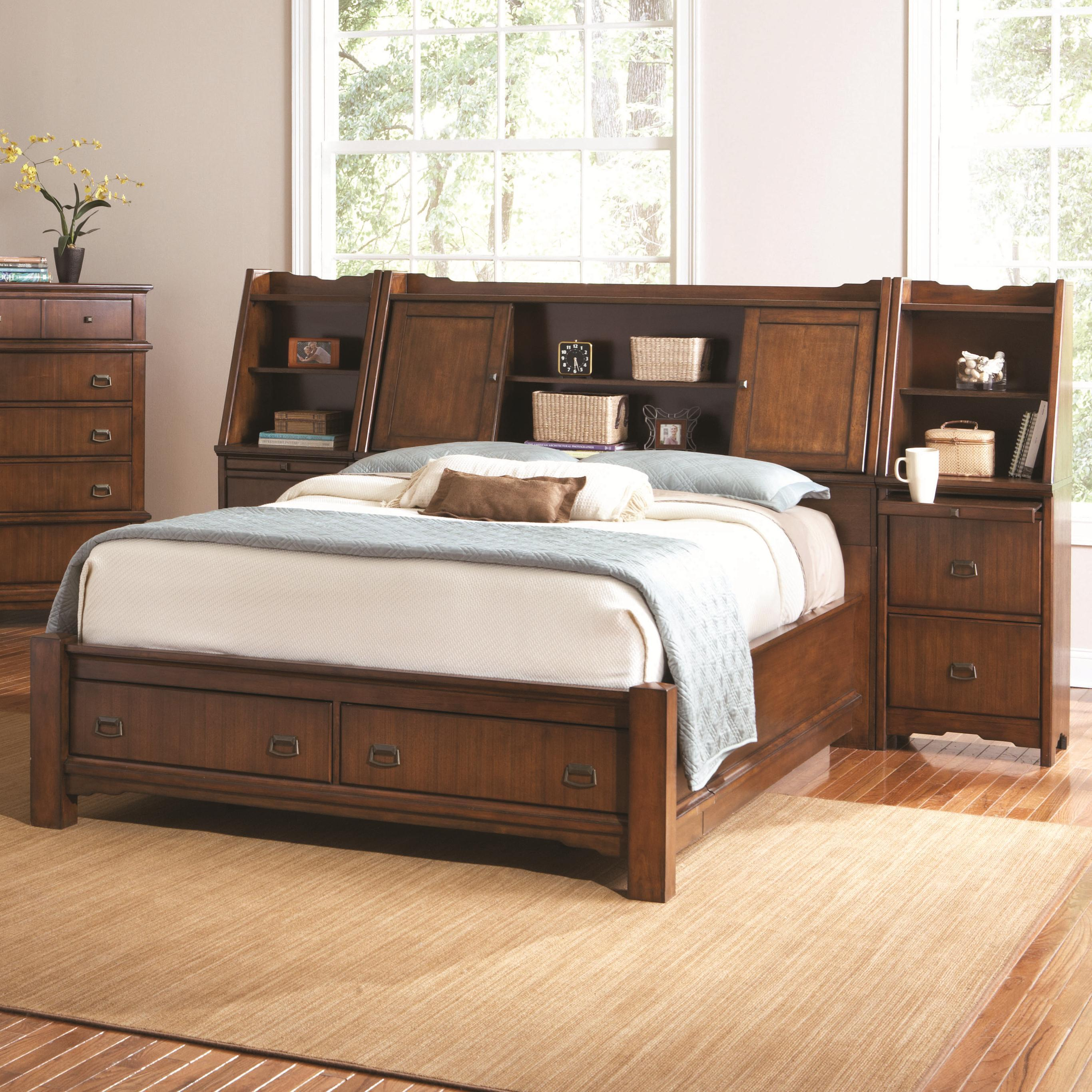 Sonoma valley king wall bed with storage platform lighted bookcase 1000 images about beds amipublicfo Image collections