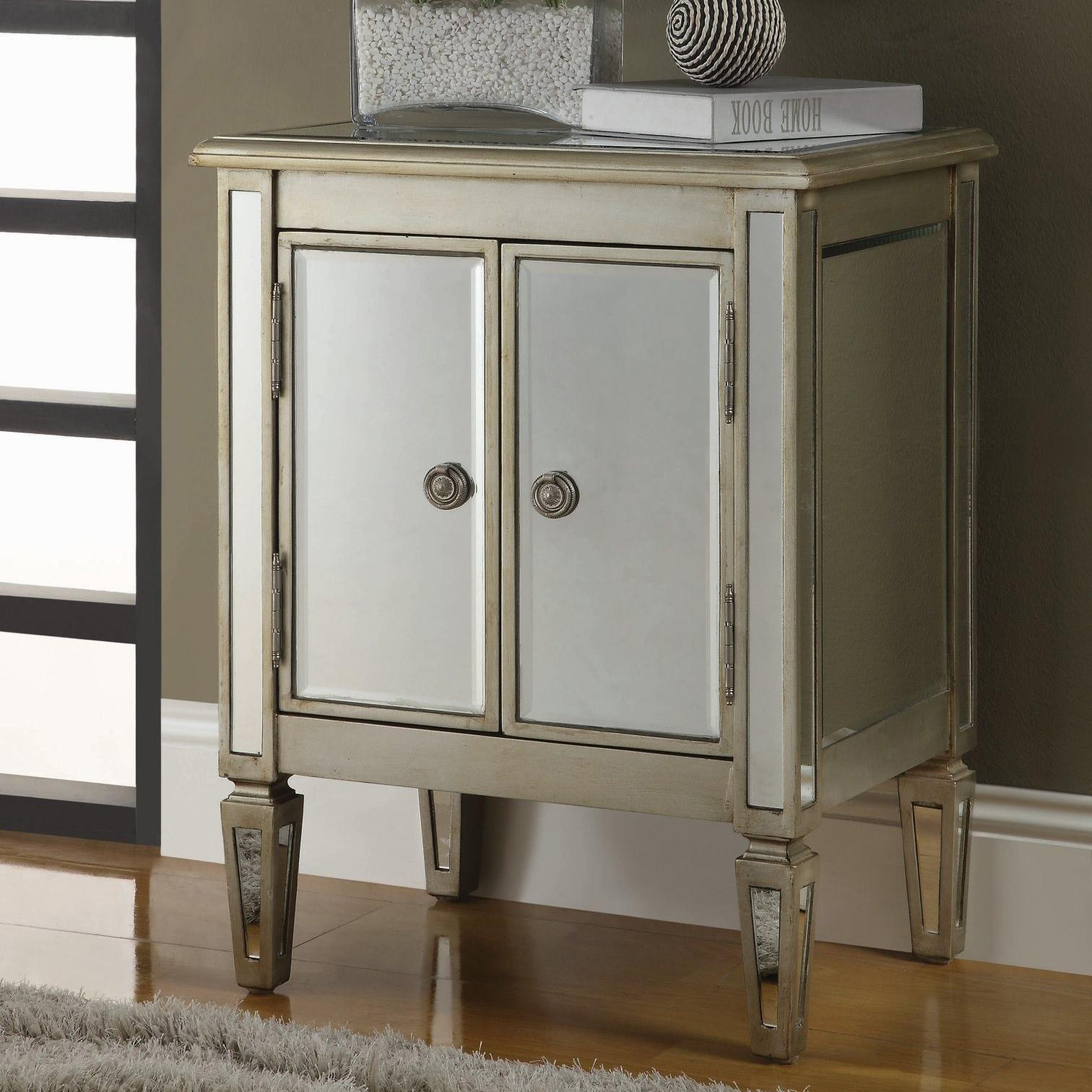 Accent Cabinets 2 Door Cabinet With Reflective Mirror Panels From Coaster Beverly Hills