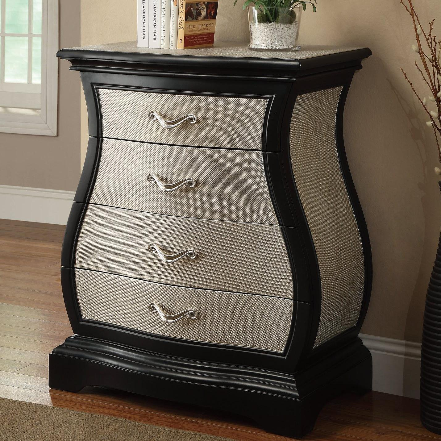 Accent Cabinets Curvy Cabinet With 4 Drawers From Coaster