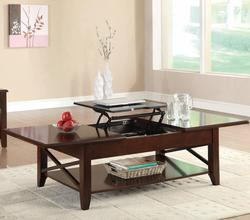 Occasional Group Transitional Lift-Top Coffee Table with X Stretchers