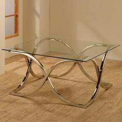 Occasional Group Coffee Table with Tempered Glass Top