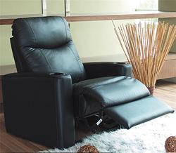 Director Contemporary Leather Theater Recliner