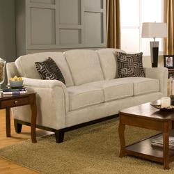 Carver Sofa with Exposed Wood Base