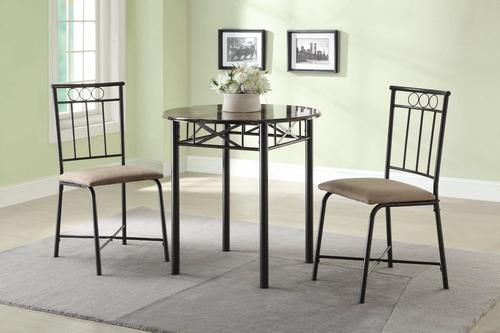 Slater 3-Piece Faux Marble Top Table and Side Chair Dining Set