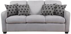 Charlotte Transitional Chenille Grey Sofa with Modern Accent Pillows