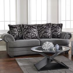 Dayton Grey Sofa with Transitional Furniture Style and Throw Pillow Seat Back