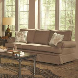 Genevieve Skirted Sofa with Rolled Arms