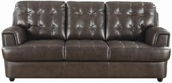 Hugo Bonded Leather Upholstered Sofa with Modern Tufting
