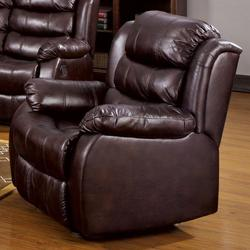 Edmund Transitional Styled Recliner with Scoop Seating and Kidney Support
