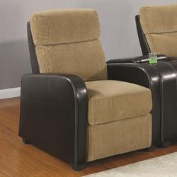 Orya Contemporary Sleek Two Tone Recliner Chair