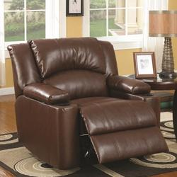 Recliners Bonded Leather Power Recliner with Storage Arms