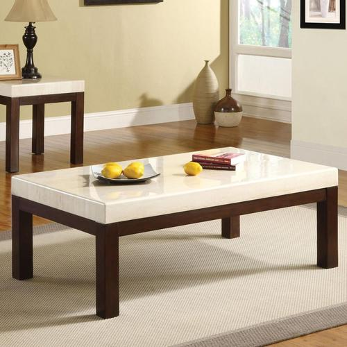 Faux White Marble Coffee Table Set: Acme Furniture Kyle Contemporary Coffee Table W/White Faux